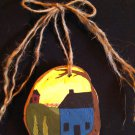 Primitive Rustic Wood Ornament OOAK (EC004)