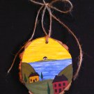 Primitive Rustic Wood Ornament OOAK (EC003)