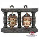 Buddhism Prayer Wheel with Tibetan Buddhist Mantra Home Décor 6.75 Inch