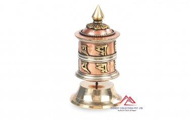 "4"" Table TOP Tibetan Spritual Prayer Wheel ""Om Mani Padme Hum"" Hand Crafted in Nepal"