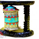 "8"" Tibetan Prayer Wheel- Handmade Prayer Wheel from Nepal,buddha wheel,dharma wheel"