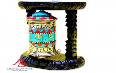 "8"" Tibetan Prayer Wheel- Handmade Prayer Wheel from Nepal,buddha wheel,dharma wheel"