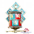 6 Inches Tibetan Table Prayer Wheel-handmade in Nepal-Dharma wheel