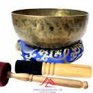 10 inches Tibetan Meditation Singing Bowl-Hand Hammered-Root chakra-Yoga Bowl