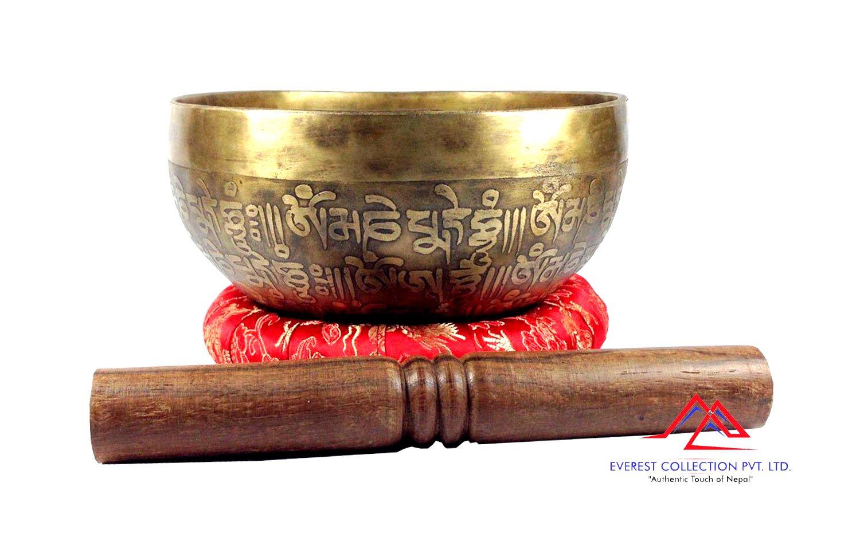 8 Inches Mantra carved singing bowl-singing bowl from Nepal,meditation bowl,healing bowls