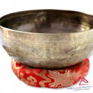 "10"" Mantra carved singing bowl-Meditation bowl-yoga bowl,singing bowl from Nepal"