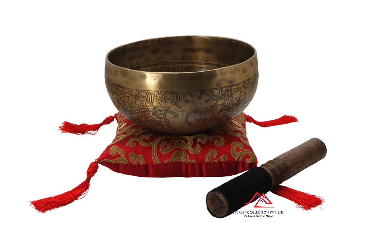 6.5 inches mantra carved singing bowl-handmade singing bowl-Healing bowls,yoga bowls