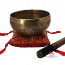 6.5 inches mantra carved singing bowl-handmade singing bowl-Healing bowls,yoga bowls