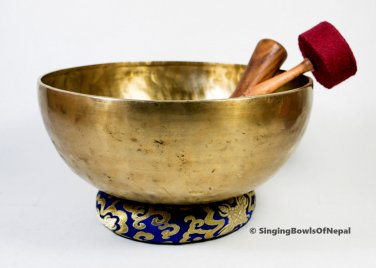 "Master Healing Tibetan singing bowl -13""Diameter singing bowl from Nepal,Buddha"