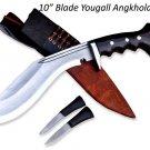 """10""""Blade yougall kukri-khukuri,gurkha knife,knives,kukri from Nepal,machete,GK"""