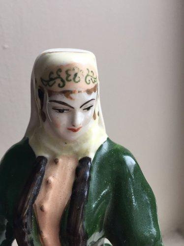 Antique Armenian Faience Figurine Of Zangezur Girl