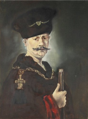 After (Rembrandt Harmenszoon van Rijn 1606-1669) Oil Painting Of Nobleman