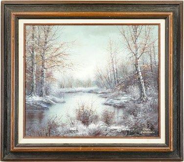 Minas Gharibian (Armenian, B. 1947) Winter Landscape.