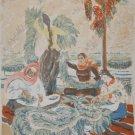 "Mariam  Aslamazyan original Lithography ""Tobacco workers"". 1940 ( 57 X 42 cm)"