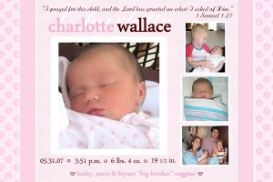 Photo Baby Announcements ~ Traditional