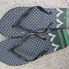 Size 7/8 Colorful Flip Flop Sandals with Heart and Dot Design - Black