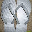 Size 7 Cariris All Rubber Flip Flops Sandals from Brazil - Silver