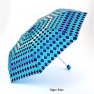 Misty Harbor Folding Umbrella - Ogee Blue