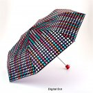 Misty Harbor Folding Umbrella - Digital Dot