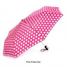 Totes Auto Open Compact Folding Umbrella - Polka Dot