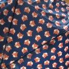 Totes Auto Open Compact Folding Umbrella - Fox on Navy