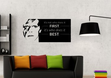 David Bowie Quote 2 Large 27x20(inch)