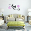 Every Family Has A Story Welcome To Ours Large 27x20(inch)