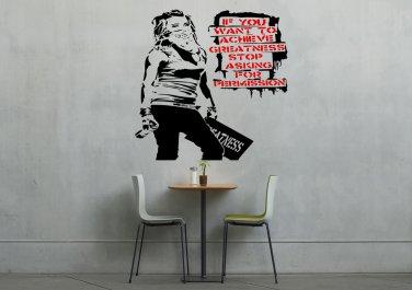 Banksy Achievements Girl Large 23x35(inch)