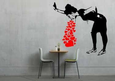Banksy Girl Throw Up Love X-Large 39x50(inch)
