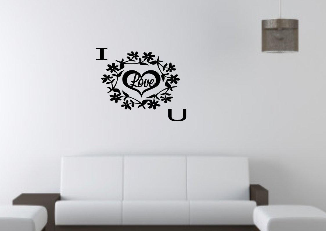 I Love You in floral reef Small 15x15(inch)
