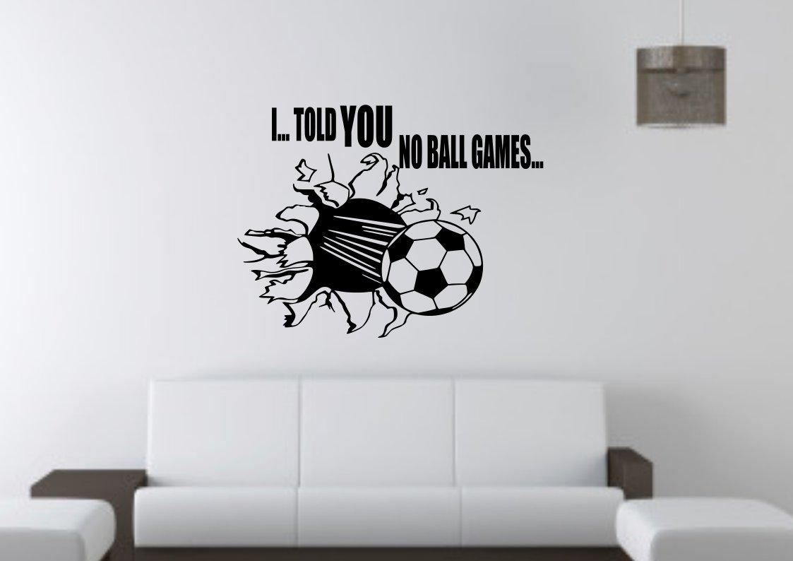 No Ball Games Ball through wall or window Small 15x15(inch)
