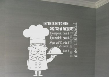 Kitchen Rules  20x30(inch)