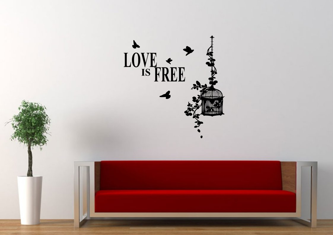 Love is free with birds flying Large 35x35(inch)