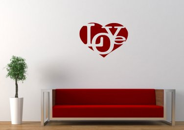 Love in love heart Large 23x23(inch)