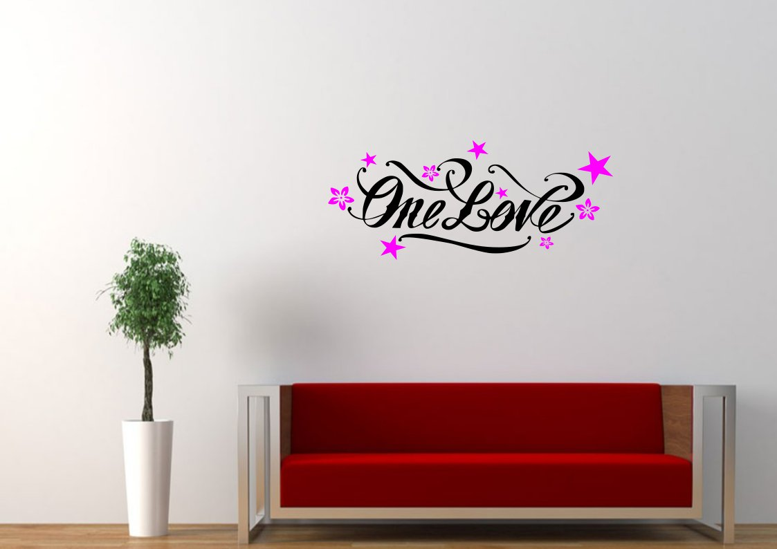 One love  with stars Large 30x20(inch)