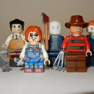 x5 *NEW* LEGO Custom Printed 90s VILLAINS Halloween Horror Movie Minifigure Lot