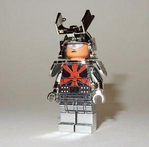 **NEW** LEGO Custom Printed CHROME SILVER SAMURAI Minifigure