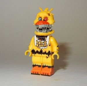 **NEW** LEGO Custom Printed FNAF - NIGHTMARE CHICA Freddy's Minifigure