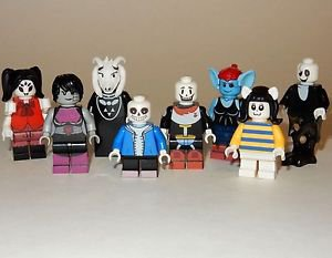 x8 **NEW** LEGO Custom Printed UNDERTALE Video Game Minifigure Lot