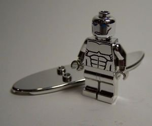 **NEW** LEGO Custom Printed CHROME SILVER SURFER Minifigure