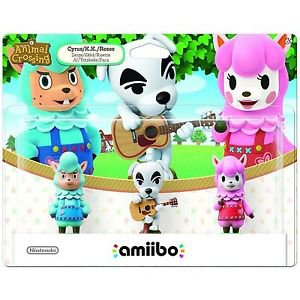 Amiibo Universal Animal Crossing 3-Pack Figures: K.K., Reese, Cyrus