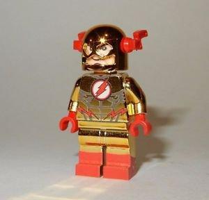 **NEW** LEGO Custom Printed CHROME GOLD REVERSE FLASH Minifigure