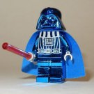 **NEW** LEGO Custom Printed CHROME DARTH VADER Blue Star Wars Sith Minifigure