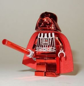 **NEW** LEGO Custom Printed CHROME DARTH VADER Red Star Wars Sith Minifigure