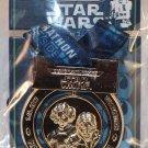 Disneyland runDisney 2017 Star Wars Half Marathon Weekend Half Marathon Ribbon Medal Pin Leia Han