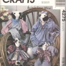 McCall's Sewing Pattern 4275 Fabric Country Cows with Outfits by Faye Wine Uncut and Unused