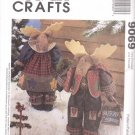 McCall's Sewing Pattern 9069 Mr. and Mrs. Reindeer Fabric Dolls with Outfits Uncut and Unused