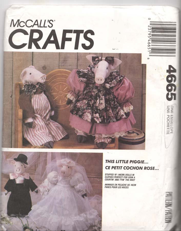 Mccall S Sewing Pattern 4665 This Little Piggie Fabric