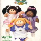 Butterick Sewing Pattern 343 Official Cabbage Patch Kids Girls' Outfits Plus Decals Uncut and Unused