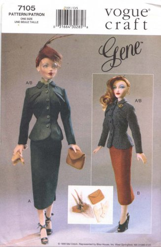 Vogue Sewing Pattern 7105 Gene Day Wear Outfits Uncut and Unused